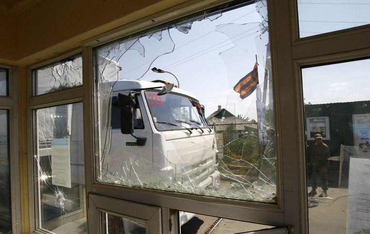 Loehansk wordt al wekenlang belegerd door het Oekraïense leger. In de stad is een groot gebrek aan onder meer elektriciteit en drinkwater. Beeld afp