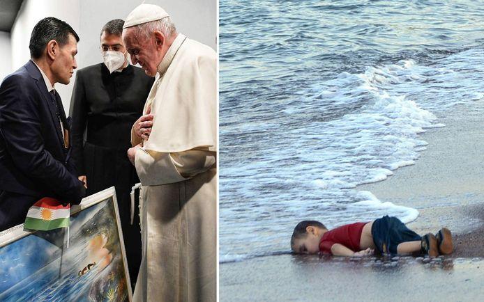 Aylan Kurdi, toen drie jaar oud, spoelde op 2 september 2015 aan op de kust van Turkije.