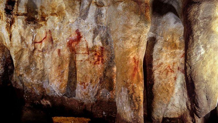 Grottekeningen door Neanderthalers in La Pasiega, Noord-Spanje. Beeld Science