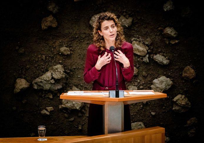 Sophie Hermans (VVD) tijdens de eerste dag van de Algemene Politieke Beschouwingen, het debat na de Troonrede op Prinsjesdag.