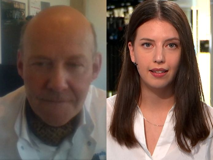 Dermatoloog en voorzitter van Euro Melanoma Thomas Maselis in gesprek met Daimy Van den Eede
