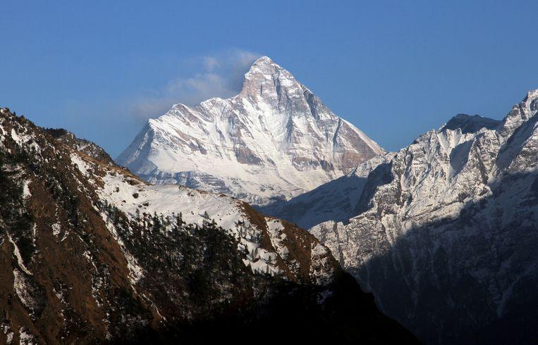 De Nanda Devi, de berg waar de vier bergbeklimmers om het leven kwamen.