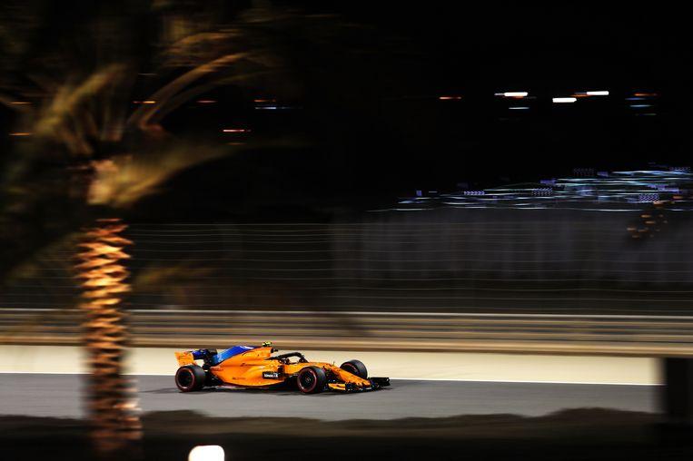 De oranje McLaren.