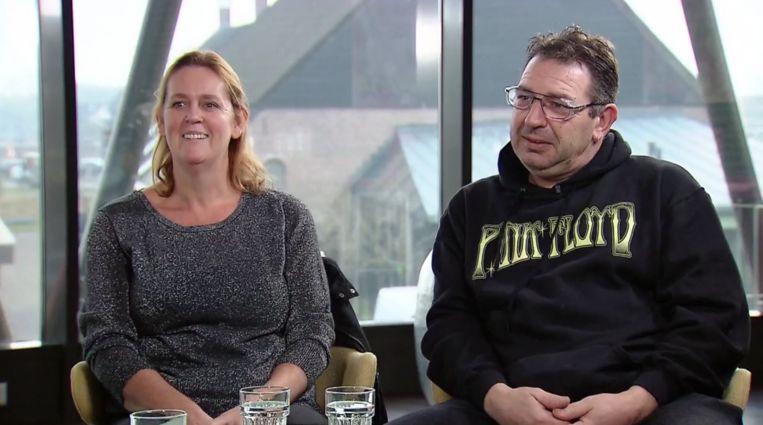 Petra en Leo in 'Help, mijn man is klusser' Beeld Screenshot RTL 4