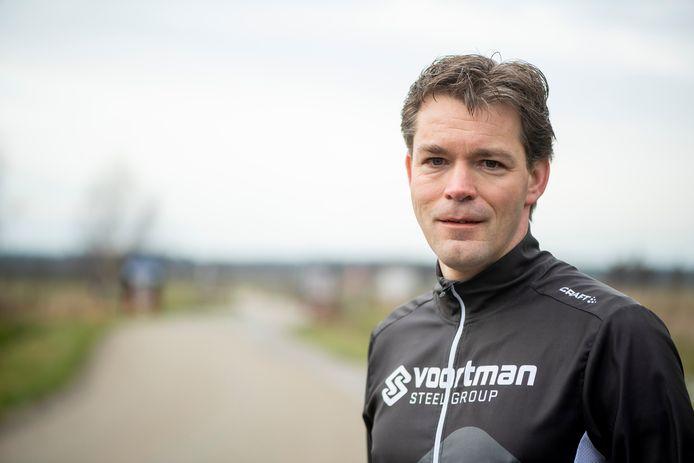 Andre Scheppink, hier in zijn hardlooptenue, is gekozen tot lijsttrekker voor de gemeenteraadsverkiezingen van 2022.