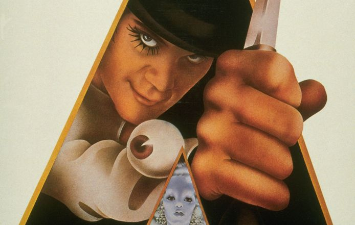De poster van A Clockwork Orange.