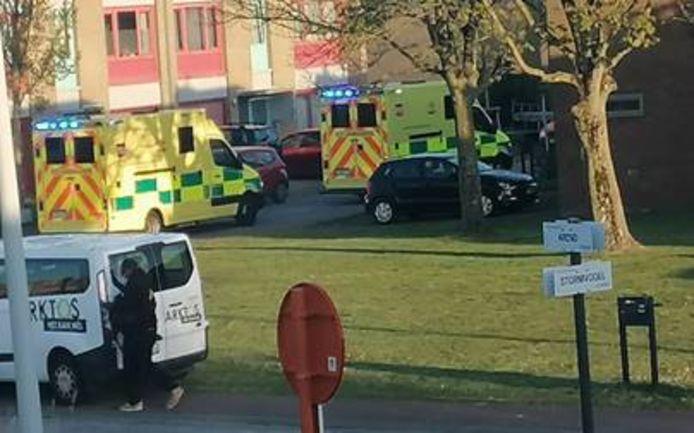 Bij het incident met de vuurkorf en handgel liep een jongen (21) zware brandwonden op. De hulpdiensten kwamen massaal ter plaatse.