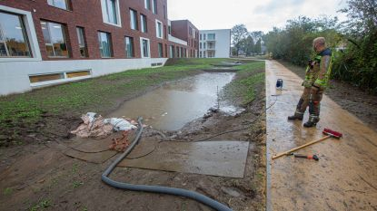 Woonzorgcentrum loopt onder water door hevige regenval