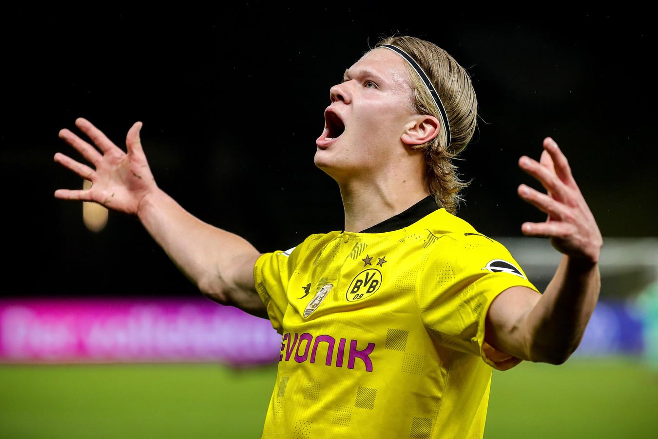 Erling Haaland maakte de 2-0 in de Duitse bekerfinale.
