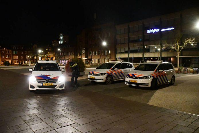 Politie op het Stadhuisplein