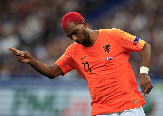 Soccer Football - UEFA Nations League - League A - Group 1 - France v Netherlands - Stade de France, Saint-Denis, France - September 9, 2018  Netherlands' Ryan Babel celebrates scoring their first goal   REUTERS/Gonzalo Fuentes