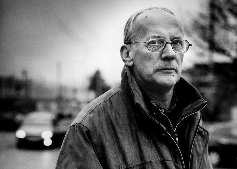 Walter De Bock, roemruchte onderzoeksjournalist van 'De Morgen', in 2007, zijn laatste levensjaar. Klaartje Schrijvers: 'Het was een van zijn overtuigingen dat de onder- en bovenwereld niet van elkaar geschedien zijn, maar in elkaar overvloeien.' Beeld Tim Dirven