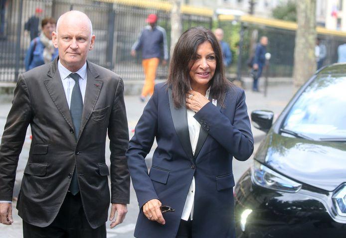 Christophe Girard et Anne Hidalgo, maire de Paris