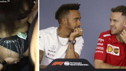 """Hamilton prijst Ferrari-bolide en vreest Miami-babes: """"De verleiding is te groot met al dat vrouwelijk schoon"""""""