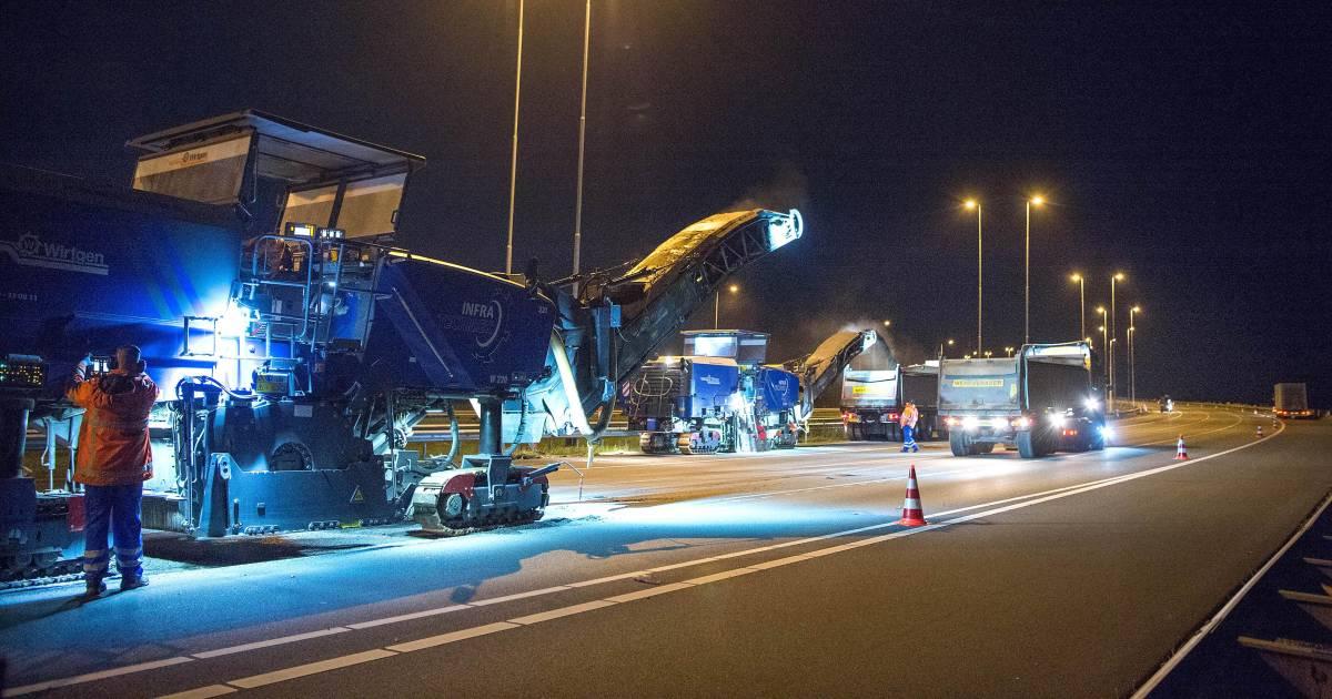 Lange files op A12, A15 én A50 door uitgelopen nachtelijke werkzaamheden en ongelukken.