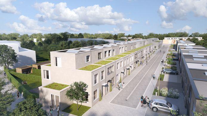 Woonproject Asperre aan park Papenhof in Mechelen.