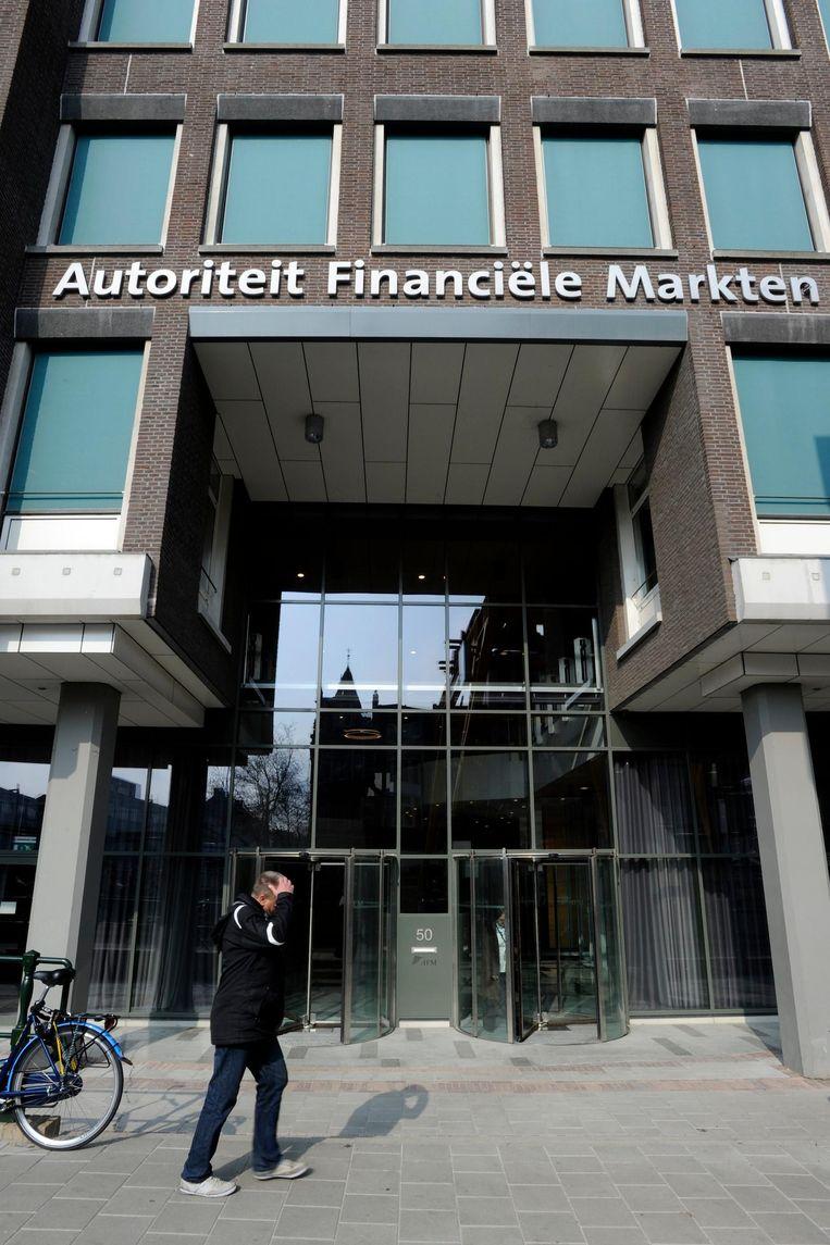 De Autoriteit Financiële Markten (AFM)aan de Vijzelgracht in Amsterdam Beeld anp