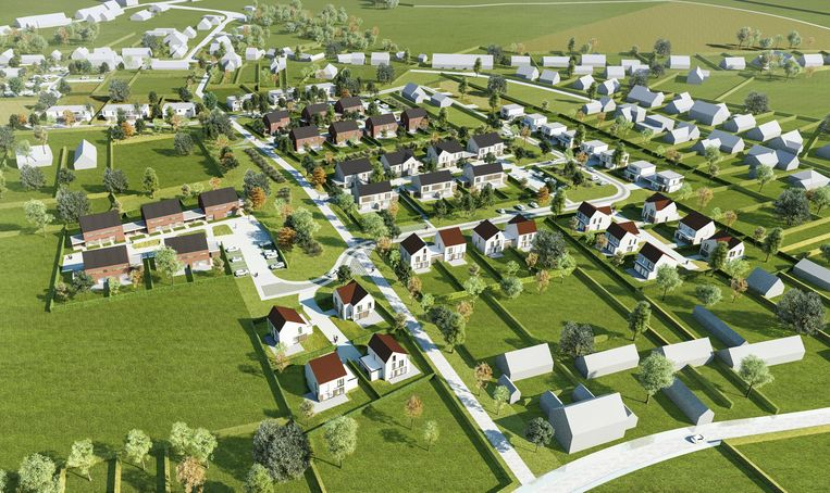 Zo moet de nieuwe wijk er gaan uitzien.