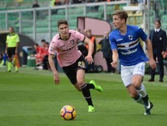 Praet en Sampdoria pakken op de valreep een punt bij rumoerig Palermo