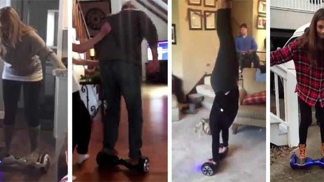 Hoverboards maken slachtoffers in hilarische filmpjes