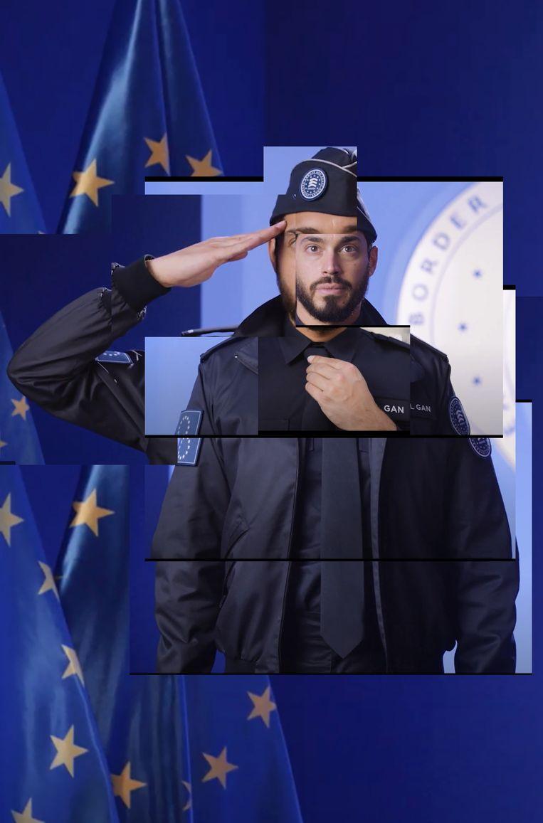 Beeld uit het filmpje over het nieuwe uniform. Beeld