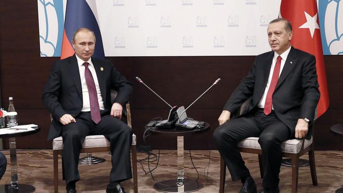 Erdogan en Poetin tijdens een ontmoeting in 2015.