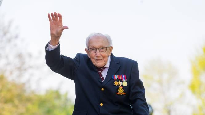 Zelfs de Britse royals steunen hem: hoe veteraan Tom Moore op 99-jarige leeftijd de wereldrecords aan elkaar rijgt