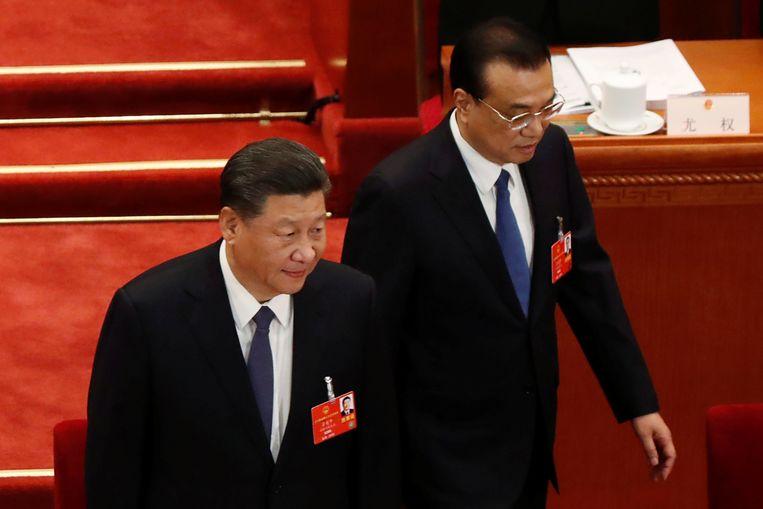 De Chinese president Xi Jinping en premier Li Keqiang.