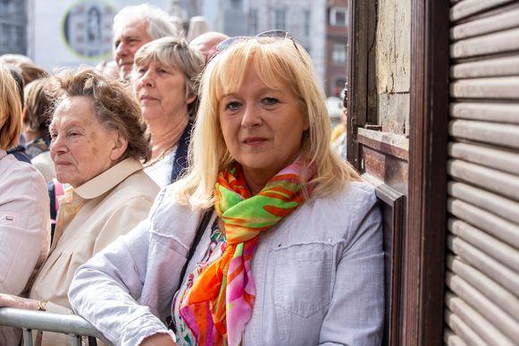 Marylène Ruytens vatte post aan de Sint-Martinusbasiliek.