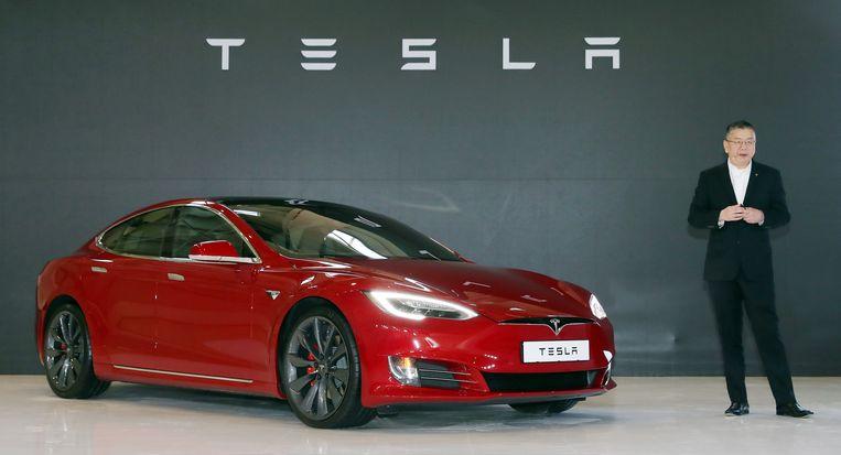 Het S Model van Tesla. Beeld EPA