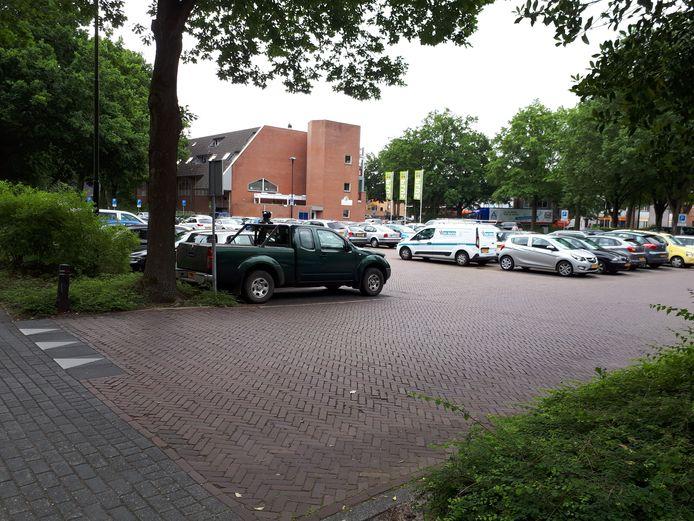 De huidige parkeerplaats op de Markt in Ermelo
