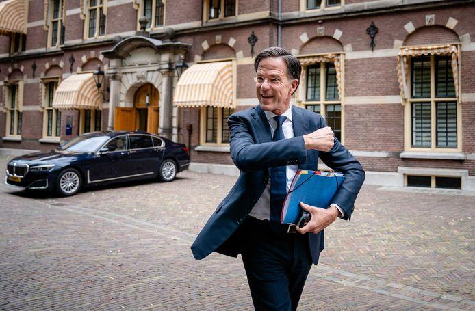 Demissionair premier én VVD-leider Mark Rutte op het Binnenhof.