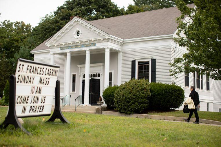 De nieuwe, alternatieve kerk is in een voormalige vrijmetselaarstempel gevestigd. Beeld Erik Jacobs