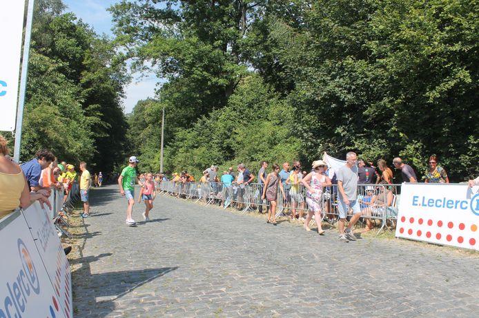 De Bosberg was destijds ook al het decor van de Tour De France.