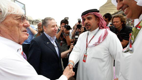 Bernie Ecclestone met Salman bin Hamad Al Khalifa, de kroonprins van Bahrein.
