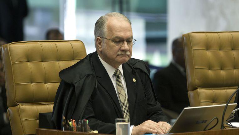 Opperrechter Luiz Edson Fachin zal besluiten of er nog verder onderzoek wordt gedaan in het zogenaamde Petrobasschandaal. Beeld EPA