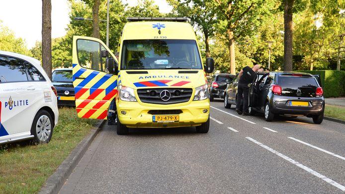 Een botsing met meerdere auto's in Helmond.