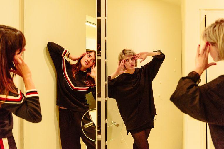 Marie Wynanys en Sylvie Kreusch. 'Ik wil eindelijk iets maken waar ik trots op ben.' Beeld Illias Teirlinck