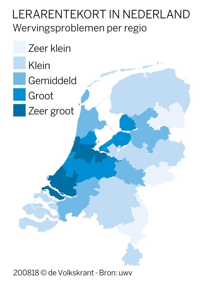 Lerarentekort in Nederland. Beeld null