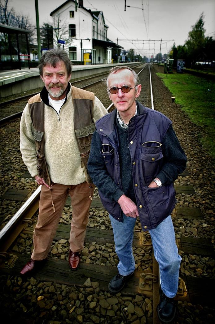 Jan Habraken (links) en Jef Peters brachten in 2005 'Het Spoorke' in beeld.