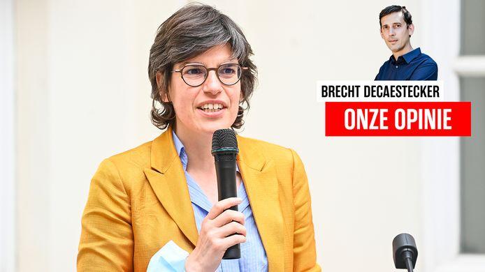 Energieminister Tinne Van Der Straeten (Groen).