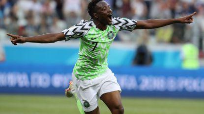 Messi dankt Nigeria: Afrikanen verslaan IJsland dankzij Musa, Argentinië nog niet uitgeteld