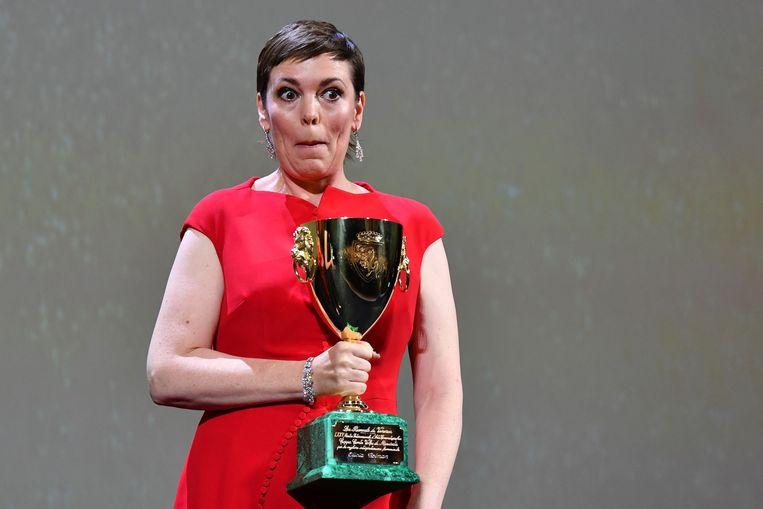 Olivia Colman werd als lesbische koningin in 'The Favourite' uitgeroepen tot beste actrice. Beeld AFP