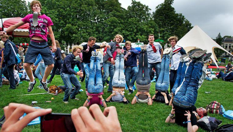 Studenten tijdens de introductieweken in Utrecht. Beeld anp