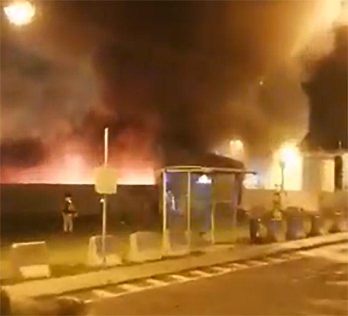 Incendie à l'aéroport de Liège