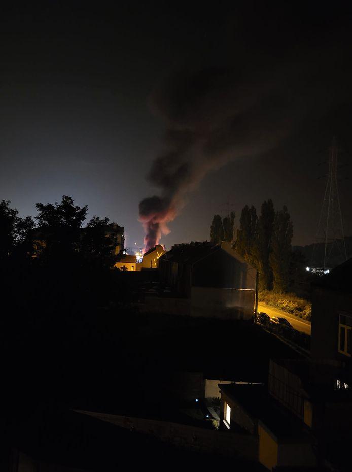 Incendie à la rue du Marais à Montignies-sur-Sambre (Charleroi)