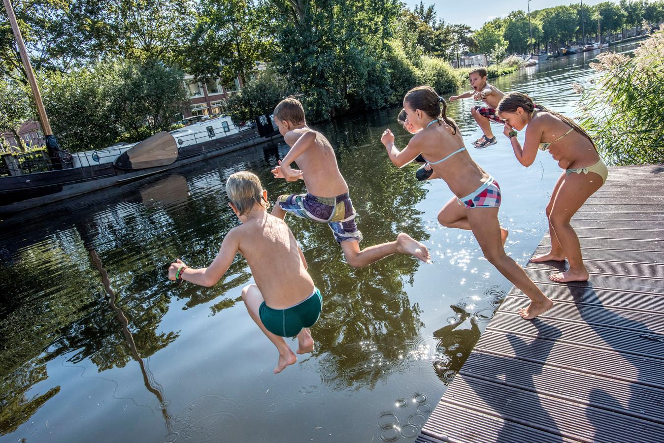 Zwemmen in de Piushaven is ontzettend populair: maar de gemeente wil het niet langer gedogen.