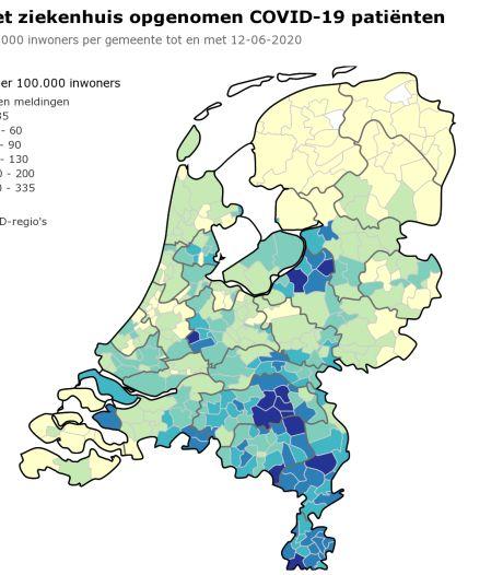 Brabant telt 9509 officiële coronapatiënten: de ziekenhuisopnamen in kaart