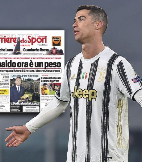 Italiaanse media: 'Ronaldo is nu een last voor Juventus'