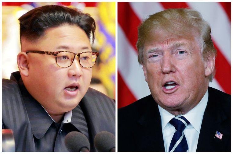 Kim Jong-un en Donald Trump. Beeld REUTERS